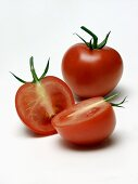Two Tomatoes one Cut in Half