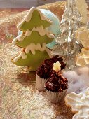 Almond clusters and gingerbread fir tree