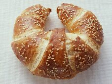 Croissant with sesame