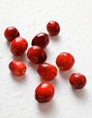 A few fresh cranberries