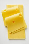 Emmental cheese in slices