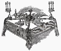 Festive table (Illustration)
