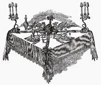 Festive table (Illustration)