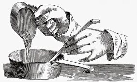 Thickening a dessert (Illustration)