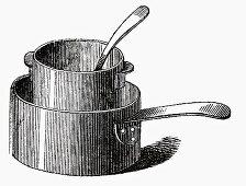 Two pans (Illustration)