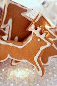 Gingerbread fir trees and reindeers