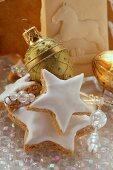 Cinnamon stars and springerle cookies