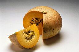 Pumpkin, a piece cut off