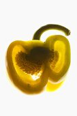 Yellow pepper, backlit