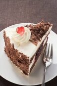 Piece of Black Forest gateau