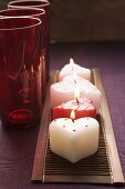 Burning candles for Valentine's Day