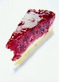 A piece of raspberry gateau