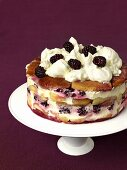 Blackberry and apple trifle