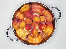 Apricots in a colander