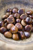 Several chestnuts in a bowl