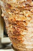 Döner kebab on spit (close-up)