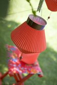 Red Chinese lanterns (garden party decorations)