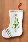 White felt boot for Christmas