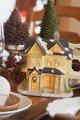 Christmas table decoration (illuminated house)