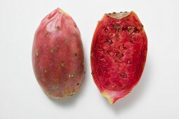 Two prickly pear halves