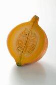 Orange pumpkin (Hokkaido), a piece removed