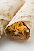 Burritos with cheese and mince