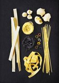 Various types of noodles