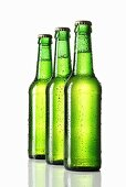 Three green bottles of beer
