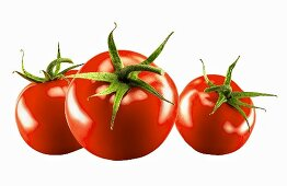 Three whole tomatoes
