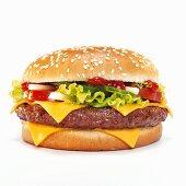 Cheeseburger, close-up