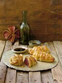 Puff pastry stuffed with hare's meat