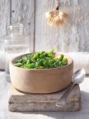 Risotto with broad beans and courgette