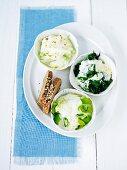 Kohlrabi and spinach gratin