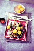 Spicy falafel with root vegetables