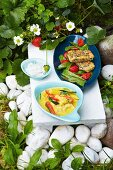 Gemüsecurry mit Tofu & gebratener Tofu mit Erdbeeren