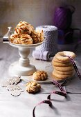 Pine nut biscuits and almond rings