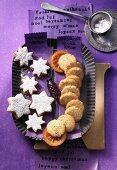 Orange and poppyseed biscuits and orange stars