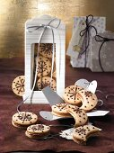 Cappuccino chocolate biscuits as a gift