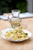 Pasta with pointed cabbage