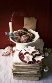 Chocolate gingerbread and cinnamon and chocolate stars