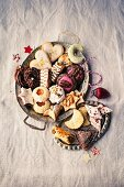 Christmas biscuits on a tray