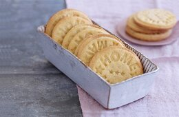 Embossed butter biscuits