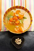 Carrot stew with almonds