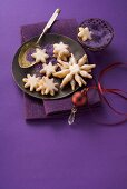Star-shaped shortbread biscuits