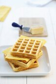 Spicy cheese waffles