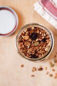 Granola Made with Oats, Coconut, Sunflower Seeds, Dried Cranberries, Pumpkin Seeds, Honey and Coconut Oil