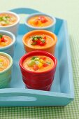 Cream of tomato soup with lemongrass and grilled cherry tomatoes