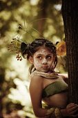 Wood Nymph Girl in the Forest