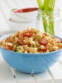 Bowl of Pasta Salad for Summer Picnic