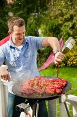 Preparing barbecue crayfish (Swedish)